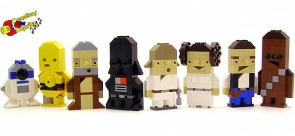 Simpáticos personagens de Star Wars recriados com LEGO