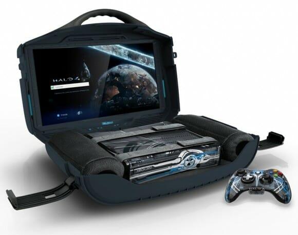 """Kit portátil """"dos sonhos"""" permite que você carregue seu XBox ou PS3 para jogar onde quiser!"""