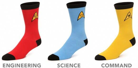 Moda geek - Meias Star Trek