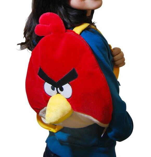 Mochila Angry Birds de pelúcia