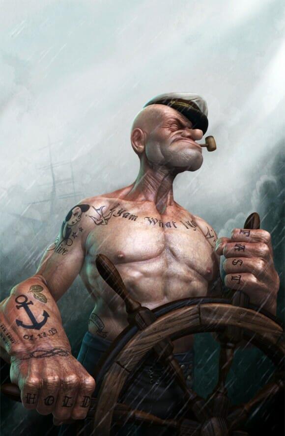 Se Popeye existisse de verdade, ele seria assim