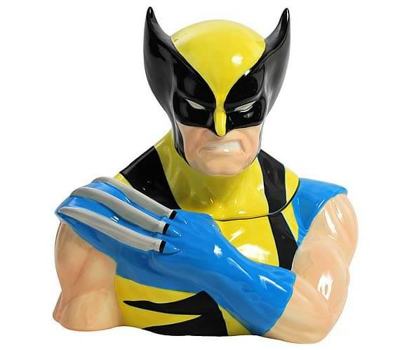 Pote de biscoito geek - Deixe que Wolverine guarde os biscoitos pra você!