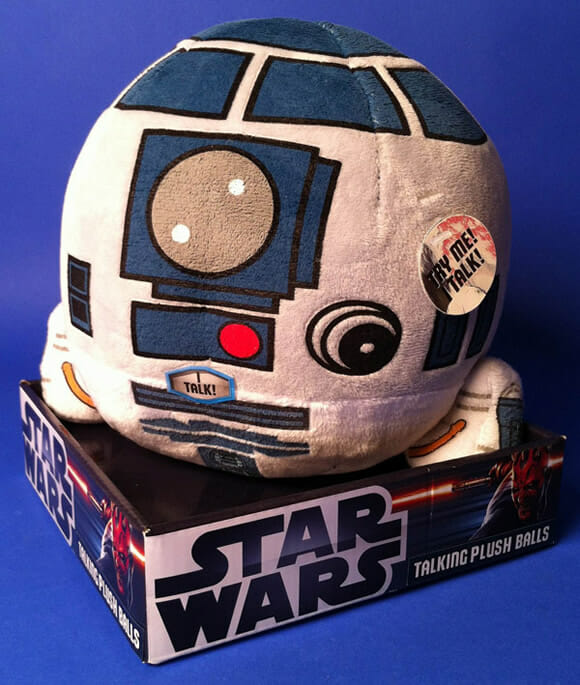 Bola de pelúcia do R2-D2 emite sons originais do personagem