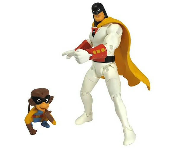 Action figure do Space Ghost e seu companheiro macaco Blip