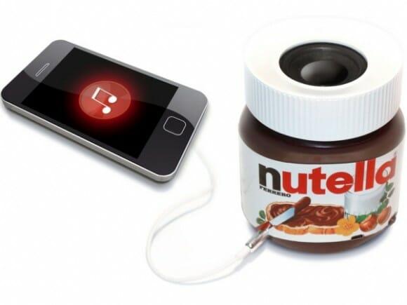Vem aí o speaker para smartphones em forma de pote de Nutella!