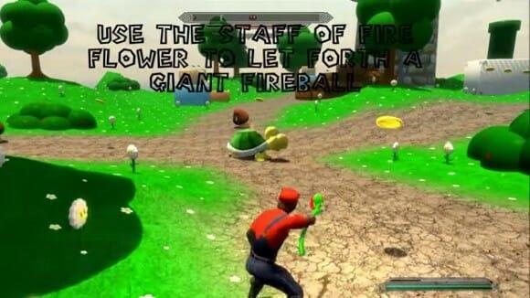 Super Skyrim Bros. - Jogue Skyrim como se estivesse jogando Super Mario (vídeo)