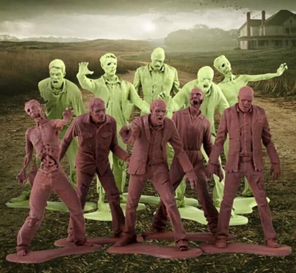 Prepare sua própria invasão de zumbis com os bonecos Army Men oficiais de The Walking Dead!