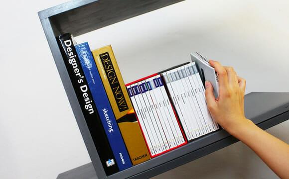 Diga adeus aos porta-livros! Troque sua estante de livros por uma estante angular!
