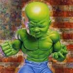 Isso é estranho mas legal do dia: Estátua do Bebê Hulk