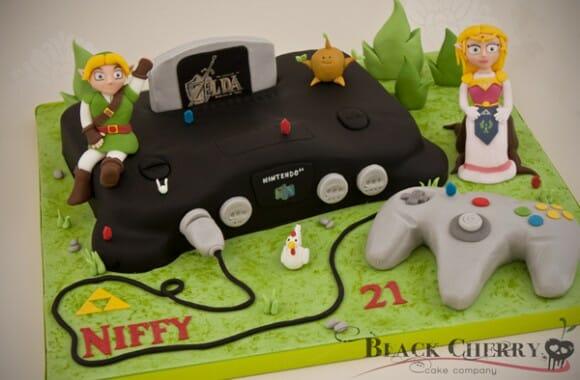 Cozinha geek - Bolo em forma de Nintendo 64 com o tema Zelda: Ocarina Of Time