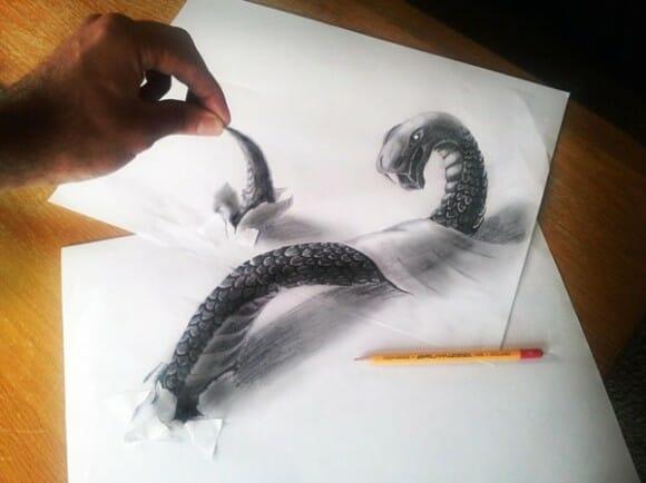 Desenhos 3D impressionantemente realistas