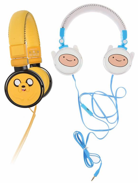 Que horas são? Hora de escutar música com Headphones Adventure Time!