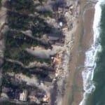 """Imagens impressionantes de satélite revelam o """"antes e depois"""" do furacão Sandy"""