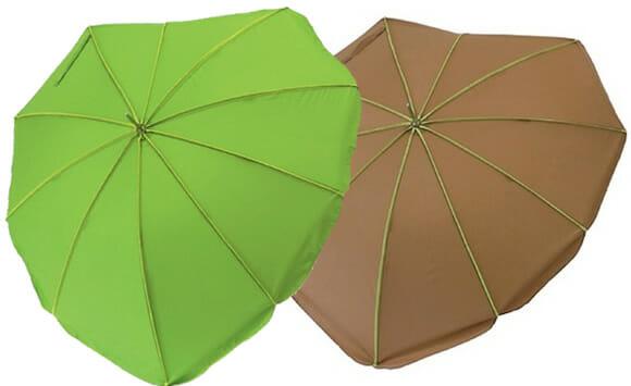 Leaf Umbrella - Guarda-chuvas inspirados em folhas de plantas