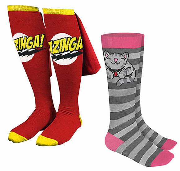 Bazinga! Pijama e meias inspiradas na série Big Bang Theory!