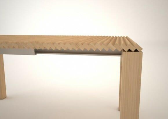 Mesa de jantar expansível pode dobrar de tamanho com extrema facilidade