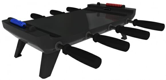 Acessório para iPad transforma ele em uma mesa de Pebolim de verdade!