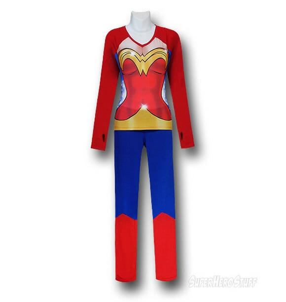Pijamas divertidos de super-heroínas