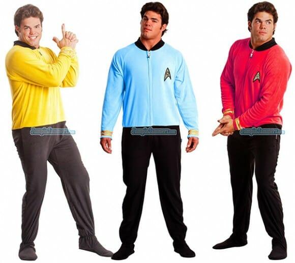 Pijamas imitam os uniformes da frota estelar de Star Trek