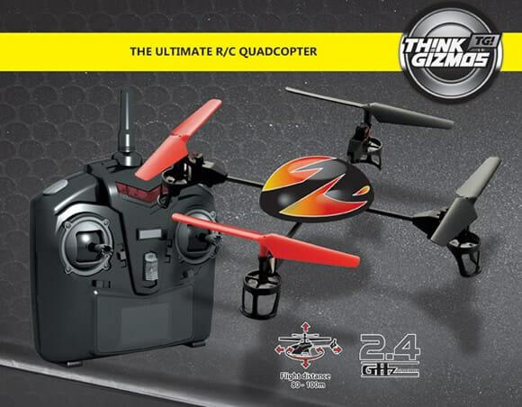 Quadricóptero Turbo Drone de controle remoto dá show em acrobacias aéreas! (vídeo)