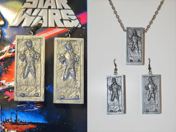 Bijuterias do Han Solo preso em Carbonite