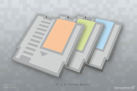 Blocos de notas imitam cartuchos do Nintendinho 8-bits