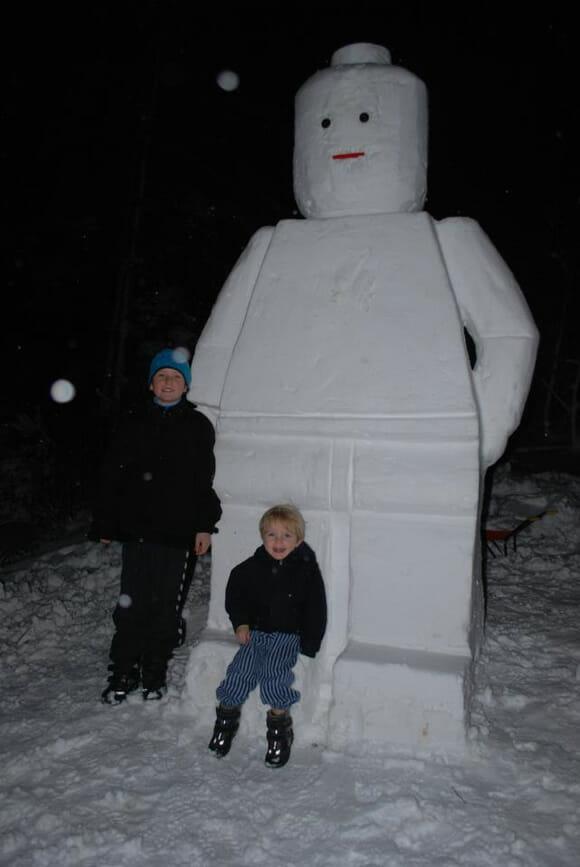 Boneco de Neve em forma de minifigure de Lego