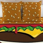 Conjunto divertido transforma sua cama em um hambúrguer gigante!