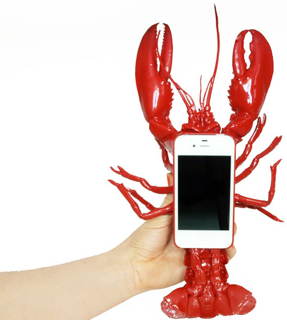 Capa para iPhone tem formato estranho e desajeitado de lagosta