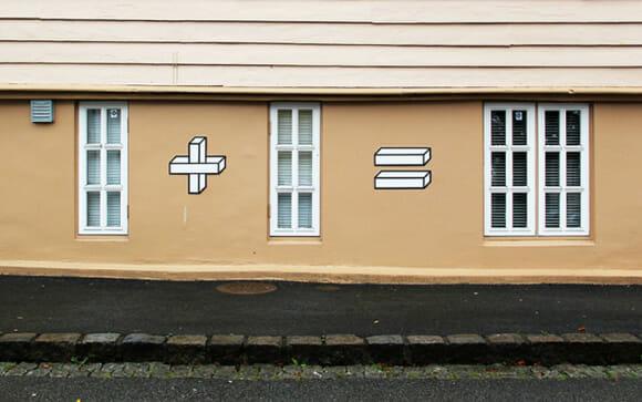 Artista transforma fachadas de construções em equações matemáticas
