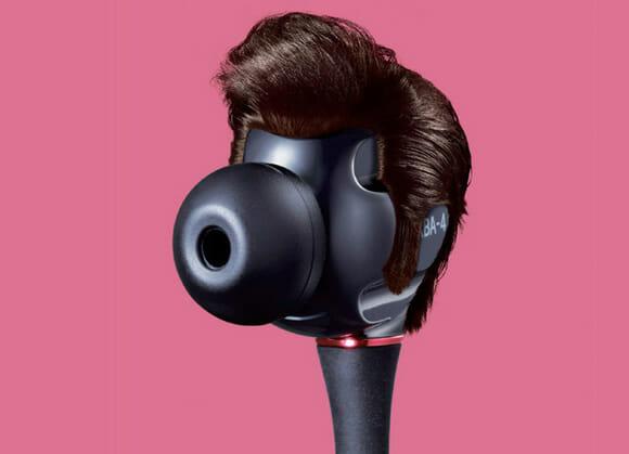 """Ícones da música """"transformados"""" em fones de ouvido"""