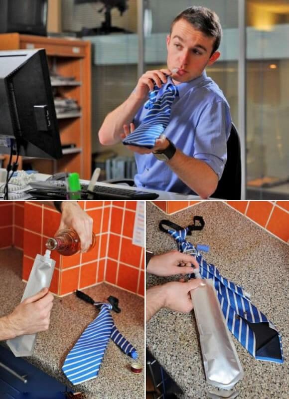 FlaskTie - A gravata perfeita pra quem sofre com o calor no verão!