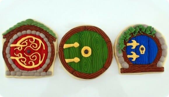 Cookies imitam portas de casas dos Hobbits