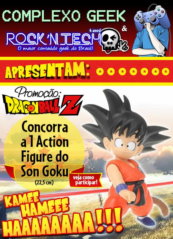 Promoção 4 anos de ROCK'N TECH - Concorra a um action figure Son Goku de Dragon Ball Z!
