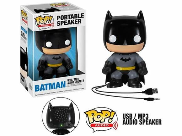 Escute suas músicas diretamente de um figure do Batman!