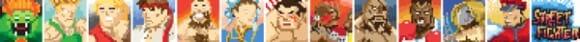 Ilustrações bacanas dos personagens do Street Fighter estilo 8-Bits