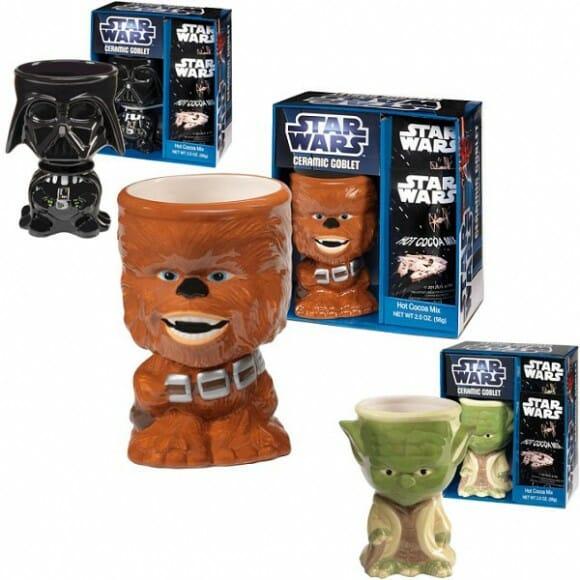 Taças de cerâmica parecem figures do Star Wars