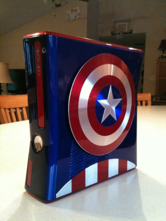 Xbox 360 customizado do Capitão América é AWESOME!