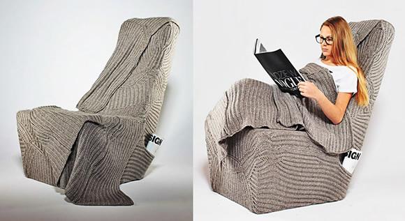 Sonho de consumo: Poltrona criativa já vem com cobertor embutido pra usar no inverno!