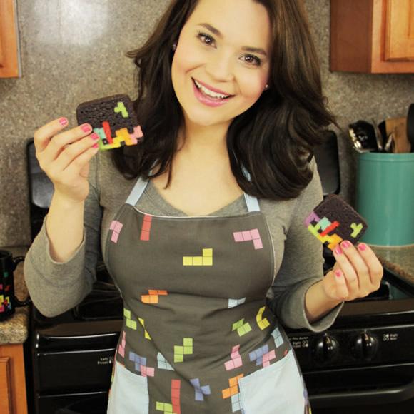 Avental Tetris para cozinhar no melhor estilo geek