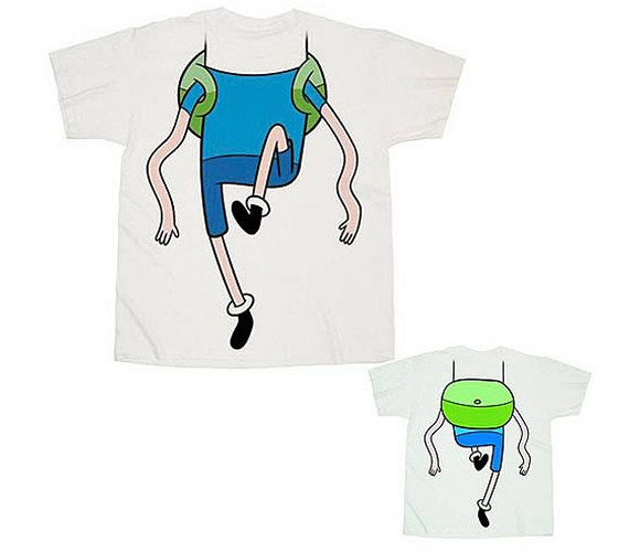 Transforme-se no Finn com a camiseta do personagem da série Adventure Time!