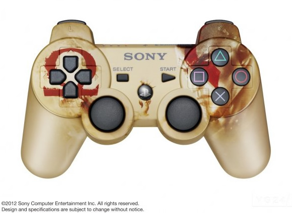 Sony libera imagem do novo controle DualShock 3 baseado no game God of War: Ascension