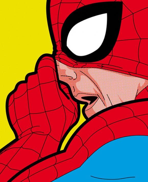 Ilustrações estilo HQ mostram heróis em situações engraçadas