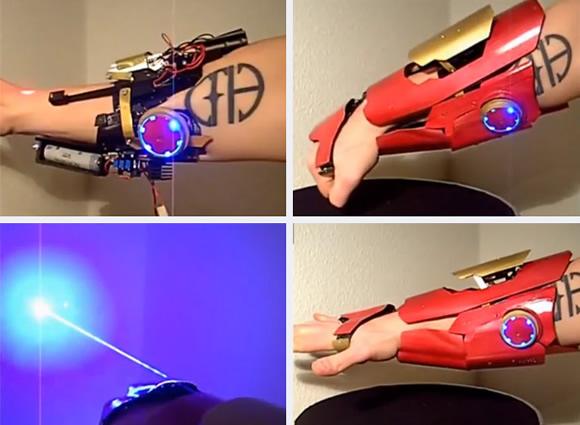 Fã constrói manopla do Iron Man que atira feixes de lasers de alta potência (vídeo)