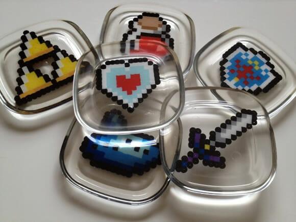 Porta-copos baseados no game The Legend of Zelda