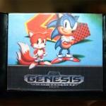 Sabonete em forma do cartucho do Sonic para Mega Drive