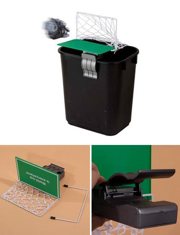 Goooooool!!! Trave de Futebol para cestos de lixo acaba com a monotonia no escritório