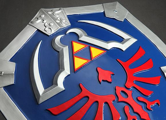 Legend of Zelda Master Collection - Espada e Escudo em escala real fiéis aos de Link do game Zelda