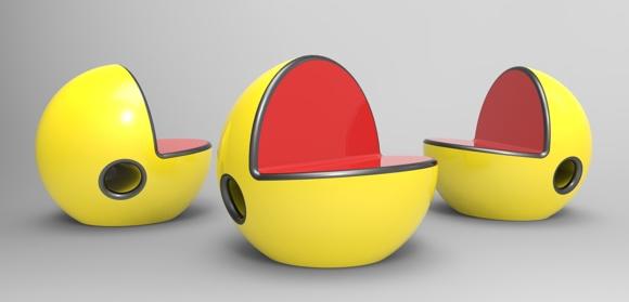 Cadeira Pac-Man é o melhor lugar para se sentar, menos para os fantasmas