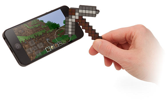 caneta stylus picareta minecraft pickaxe